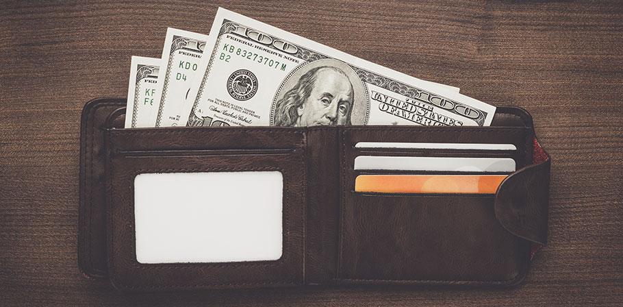 Tidlöst mode för plånböcker